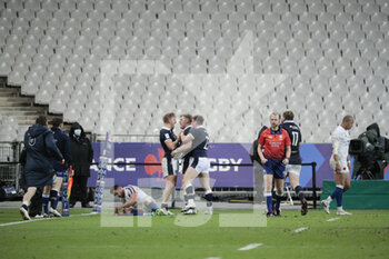 26/03/2021 - Duran van der Merwe (SCO) scored the last try and won the game, celebration during the 2021 Six Nations, rugby union match between France and Scotland on March 26, 2021 at Stade de France in Saint-Denis near Paris, France - Photo Stephane Allaman / DPPI - 2021 GUINNESS SIX NATIONS RUGBY - FRANCE VS SCOTLAND - 6 NAZIONI - RUGBY