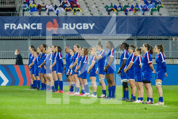 03/04/2021 - Team France during the 2021 Women's Six Nations, rugby union match between France and Wales on April 3, 2021 at La Rabine stadium in Vannes, France - Photo Damien Kilani / DK Prod / DPPI - SEI NAZIONI FEMMINILE 2021 - FRANCIA VS GALLES - 6 NAZIONI - RUGBY