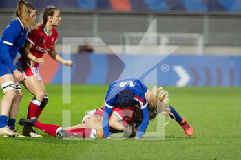 03/04/2021 - Caroline Boujard of France contests during the 2021 Women's Six Nations, rugby union match between France and Wales on April 3, 2021 at La Rabine stadium in Vannes, France - Photo Damien Kilani / DK Prod / DPPI - SEI NAZIONI FEMMINILE 2021 - FRANCIA VS GALLES - 6 NAZIONI - RUGBY