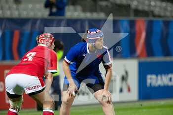 03/04/2021 - Donna Rose of Wales and Annaelle Deshayes of France during the 2021 Women's Six Nations, rugby union match between France and Wales on April 3, 2021 at La Rabine stadium in Vannes, France - Photo Damien Kilani / DK Prod / DPPI - SEI NAZIONI FEMMINILE 2021 - FRANCIA VS GALLES - 6 NAZIONI - RUGBY