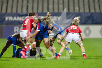 03/04/2021 - Gaelle Hermet of France during the 2021 Women's Six Nations, rugby union match between France and Wales on April 3, 2021 at La Rabine stadium in Vannes, France - Photo Damien Kilani / DK Prod / DPPI - SEI NAZIONI FEMMINILE 2021 - FRANCIA VS GALLES - 6 NAZIONI - RUGBY