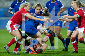03/04/2021 - Gabrielle Vernier of France during the 2021 Women's Six Nations, rugby union match between France and Wales on April 3, 2021 at La Rabine stadium in Vannes, France - Photo Damien Kilani / DK Prod / DPPI - SEI NAZIONI FEMMINILE 2021 - FRANCIA VS GALLES - 6 NAZIONI - RUGBY