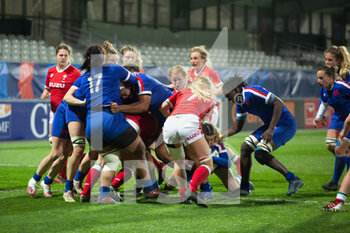 03/04/2021 - Maul and Try for Agathe Sochat of France during the 2021 Women's Six Nations, rugby union match between France and Wales on April 3, 2021 at La Rabine stadium in Vannes, France - Photo Damien Kilani / DK Prod / DPPI - SEI NAZIONI FEMMINILE 2021 - FRANCIA VS GALLES - 6 NAZIONI - RUGBY