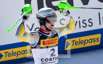 21/02/2021 - Norway's Sebastian Foss-Solewagg reacts after the finish line for his Gold medal - 2021 FIS ALPINE WORLD SKI CHAMPIONSHIPS - SLALOM - MEN - SCI ALPINO - SPORT INVERNALI