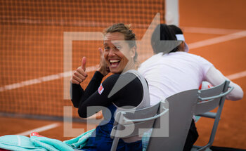 03/10/2020 - Barbora Strycova of the Czech Republic playing doubles at the Roland Garros 2020, Grand Slam tennis tournament, on October 3, 2020 at Roland Garros stadium in Paris, France - Photo Rob Prange / Spain DPPI / DPPI - ROLAND GARROS 2020, GRAND SLAM TOURNAMENT - INTERNAZIONALI - TENNIS