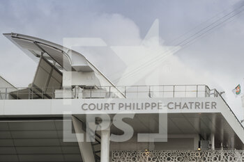 05/10/2020 - First rooftop wing illustration on Philippe Chatrier stadium during the Roland Garros 2020, Grand Slam tennis tournament, on October 5, 2020 at Roland Garros stadium in Paris, France - Photo Stephane Allaman / DPPI - ROLAND GARROS 2020, GRAND SLAM TOURNAMENT - INTERNAZIONALI - TENNIS