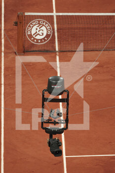 05/10/2020 - Spider cam illustration over the clay stadium Philippe Chatrier during the Roland Garros 2020, Grand Slam tennis tournament, on October 5, 2020 at Roland Garros stadium in Paris, France - Photo Stephane Allaman / DPPI - ROLAND GARROS 2020, GRAND SLAM TOURNAMENT - INTERNAZIONALI - TENNIS
