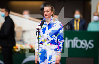 07/10/2020 - Petra Kvitova of the Czech Republic reacts to winning her quarter-final match at the Roland Garros 2020, Grand Slam tennis tournament, on October 7, 2020 at Roland Garros stadium in Paris, France - Photo Rob Prange / Spain DPPI / DPPI - QUARTER-FINAL OF THE ROLAND GARROS 2020, GRAND SLAM - INTERNAZIONALI - TENNIS
