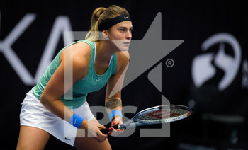 22/10/2020 - Aryna Sabalenka of Belarus in action against Cori Gauff of the United States during the second round at the 2020 J&T Banka Ostrava Open WTA Premier tennis tournament on October 22, 2020 in Ostrava, Czech Republic - Photo Rob Prange / Spain DPPI / DPPI - SECOND ROUND OF 2020 J&T BANKA OSTRAVA OPEN WTA PREMIER - THURSDAY - INTERNAZIONALI - TENNIS