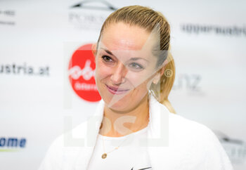 07/11/2020 - Sabine Lisicki of Germany talks to the media after winning the first qualifications round at 2020 Upper Austria Ladies Linz WTA International tennis tournament on November 7, 2020 at TipsArena Linz in Linz, Austria - Photo Rob Prange / Spain DPPI / DPPI - 2020 UPPER AUSTRIA LADIES LINZ WTA INTERNATIONAL TOURNAMENT - SATURDAY - INTERNAZIONALI - TENNIS
