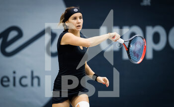 08/11/2020 - Irina Bara of Romania in action against Jana Fett of Croatia during the second qualifications round at 2020 Upper Austria Ladies Linz WTA International tennis tournament on November 8, 2020 at TipsArena Linz in Linz, Austria - Photo Rob Prange / Spain DPPI / DPPI - 2020 UPPER AUSTRIA LADIES LINZ WTA INTERNATIONAL TOURNAMENT - SUNDAY - INTERNAZIONALI - TENNIS