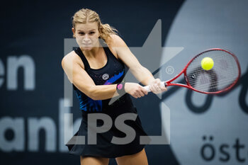 08/11/2020 - Jana Fett of Croatia in action against Irina Bara of Romania during the second qualifications round at 2020 Upper Austria Ladies Linz WTA International tennis tournament on November 8, 2020 at TipsArena Linz in Linz, Austria - Photo Rob Prange / Spain DPPI / DPPI - 2020 UPPER AUSTRIA LADIES LINZ WTA INTERNATIONAL TOURNAMENT - SUNDAY - INTERNAZIONALI - TENNIS