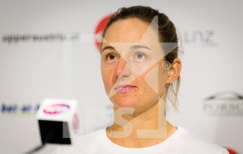 08/11/2020 - Nadia Podoroska of Argentina talks to the media at 2020 Upper Austria Ladies Linz WTA International tennis tournament on November 8, 2020 at TipsArena Linz in Linz, Austria - Photo Rob Prange / Spain DPPI / DPPI - 2020 UPPER AUSTRIA LADIES LINZ WTA INTERNATIONAL TOURNAMENT - SUNDAY - INTERNAZIONALI - TENNIS