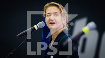 08/11/2020 - Sandra Reichel during the draw ceremony at 2020 Upper Austria Ladies Linz WTA International tennis tournament on November 8, 2020 at TipsArena Linz in Linz, Austria - Photo Rob Prange / Spain DPPI / DPPI - 2020 UPPER AUSTRIA LADIES LINZ WTA INTERNATIONAL TOURNAMENT - SUNDAY - INTERNAZIONALI - TENNIS