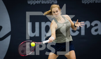 08/11/2020 - Stefanie Voegele of Switzerland in action against Lesley Pattinama Kerkhove of the Netherlands during the second qualifications round at 2020 Upper Austria Ladies Linz WTA International tennis tournament on November 8, 2020 at TipsArena Linz in Linz, Austria - Photo Rob Prange / Spain DPPI / DPPI - 2020 UPPER AUSTRIA LADIES LINZ WTA INTERNATIONAL TOURNAMENT - SUNDAY - INTERNAZIONALI - TENNIS