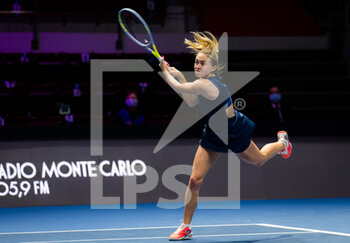 15/03/2021 - Aliaksandra Sasnovich of Belarus in action during the first round of the 2021 St Petersburg Ladies Trophy, WTA 500 tennis tournament on March 15, 2021 at the Sibur Arena in St Petersburg, Russia - Photo Rob Prange / Spain DPPI / DPPI - 2021 ST PETERSBURG LADIES TROPHY, WTA 500 TENNIS TOURNAMENT - INTERNAZIONALI - TENNIS