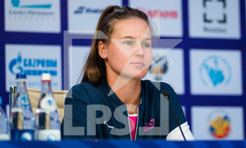 15/03/2021 - Veronika Kudermetova of Russia talks to the media at the 2021 St Petersburg Ladies Trophy, WTA 500 tennis tournament on March 15, 2021 at the Sibur Arena in St Petersburg, Russia - Photo Rob Prange / Spain DPPI / DPPI - 2021 ST PETERSBURG LADIES TROPHY, WTA 500 TENNIS TOURNAMENT - INTERNAZIONALI - TENNIS