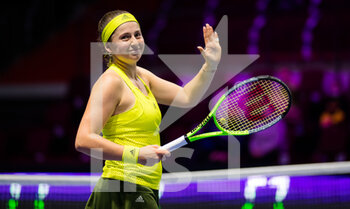 15/03/2021 - Jelena Ostapenko of Latvia celebrates during the first round of the 2021 St Petersburg Ladies Trophy, WTA 500 tennis tournament on March 15, 2021 at the Sibur Arena in St Petersburg, Russia - Photo Rob Prange / Spain DPPI / DPPI - 2021 ST PETERSBURG LADIES TROPHY, WTA 500 TENNIS TOURNAMENT - INTERNAZIONALI - TENNIS