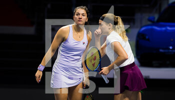 15/03/2021 - Margarita Gasparyan and Natela Dzalamidze of Russia playing doubles at the 2021 St Petersburg Ladies Trophy, WTA 500 tennis tournament on March 15, 2021 at the Sibur Arena in St Petersburg, Russia - Photo Rob Prange / Spain DPPI / DPPI - 2021 ST PETERSBURG LADIES TROPHY, WTA 500 TENNIS TOURNAMENT - INTERNAZIONALI - TENNIS