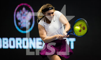15/03/2021 - Natela Dzalamidze of Russia playing doubles at the 2021 St Petersburg Ladies Trophy, WTA 500 tennis tournament on March 15, 2021 at the Sibur Arena in St Petersburg, Russia - Photo Rob Prange / Spain DPPI / DPPI - 2021 ST PETERSBURG LADIES TROPHY, WTA 500 TENNIS TOURNAMENT - INTERNAZIONALI - TENNIS