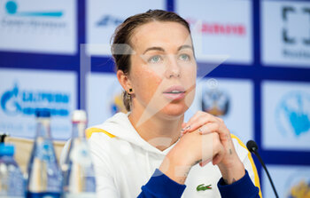 17/03/2021 - Anastasia Pavlyuchenkova of Russia talks to the media after the second round at the 2021 St Petersburg Ladies Trophy, WTA 500 tennis tournament on March 18, 2021 at the Sibur Arena in St Petersburg, Russia - Photo Rob Prange / Spain DPPI / DPPI - 2021 ST PETERSBURG LADIES TROPHY, WTA 500 TENNIS TOURNAMENT - INTERNAZIONALI - TENNIS