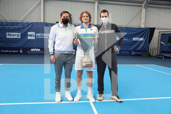 28/03/2021 - Zizou BERGS and Koen BERGS and coach during the Final Play In Challenger 2021, ATP Challenger tennis tournament on March 28, 2021 at Marcel Bernard complex in Lille, France - Photo Laurent Sanson / LS Medianord / DPPI - FINAL PLAY IN CHALLENGER 2021, ATP CHALLENGER TENNIS TOURNAMENT - INTERNAZIONALI - TENNIS