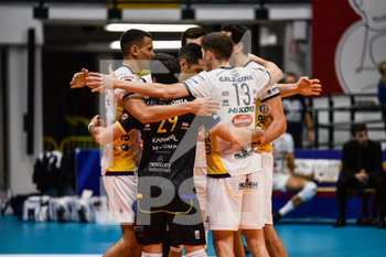 16/02/2020 - Esultanza di Verona - VERO VOLLEY MONZA VS CALZEDONIA VERONA - SUPERLEGA SERIE A - VOLLEY