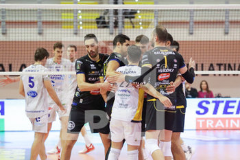 07/03/2020 - esultanza Calzedonia Verona - TOP VOLLEY LATINA VS CALZEDONIA VERONA - SUPERLEGA SERIE A - VOLLEY