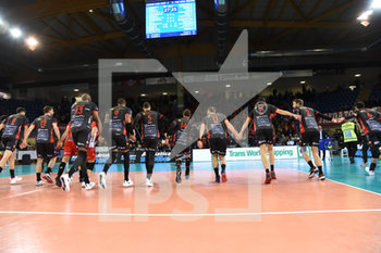 10/04/2019 - Esultanza Lube - CUCINE LUBE CIVITANOVA (ITA) VS PGE SKRA BELCHATOW (POL) - CHAMPIONS LEAGUE MEN - VOLLEY